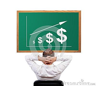 Growth dollar on desk