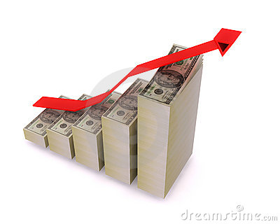 Growth Graph with Dollars