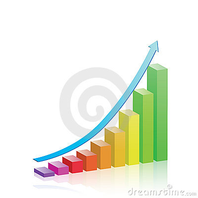 Free Growth & Progress Bar Chart Royalty Free Stock Photography - 15786207