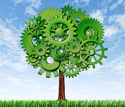 Growth and success tree symbol