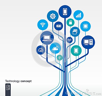 Free Growth Tree Circuit Technology Concept Stock Image - 70438121