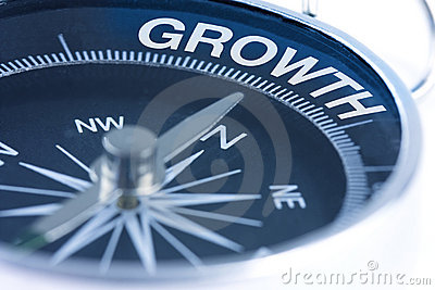 Growth Word On Compass