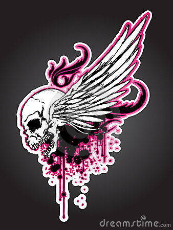 Grudge Skull with Wing