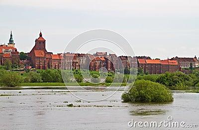 Grudziadz Granary - river view