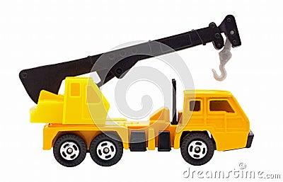 grue de camion de jouet images stock image 35562564. Black Bedroom Furniture Sets. Home Design Ideas