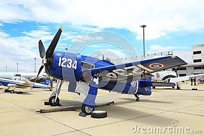 Grumman F8F Bearcat was showed Editorial Image