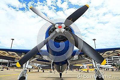 Grumman F8F Bearcat was showed Editorial Stock Photo