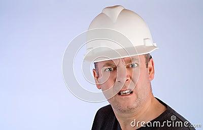 Grumpy Construction Worker