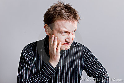 Grumpy Man With Unkempt Hair Stock Photography - Image: 3164252