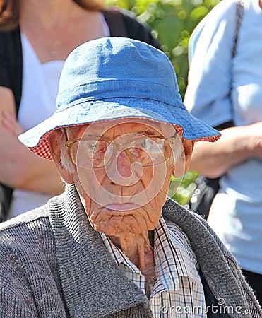 Grumpy old man Editorial Stock Image