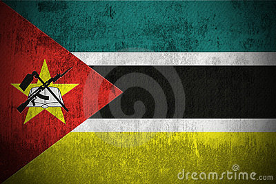 Grunge Мозамбик флага