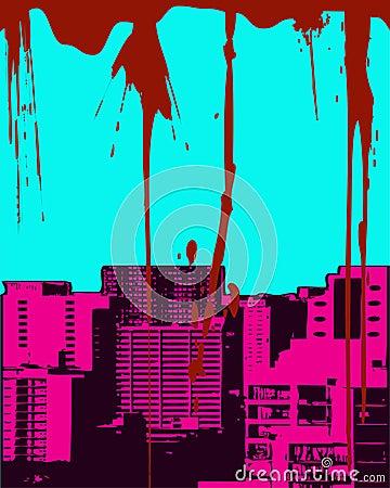 Grunge городского пейзажа