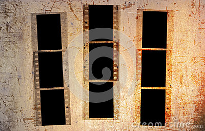 Grunge 35mm photo frames