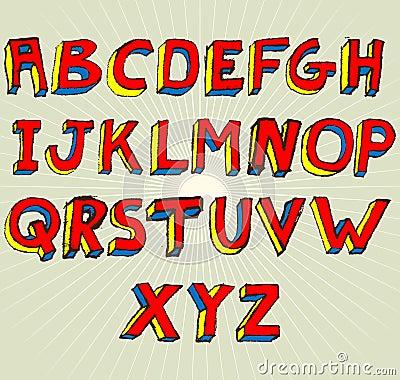 Grunge 3D Alphabet