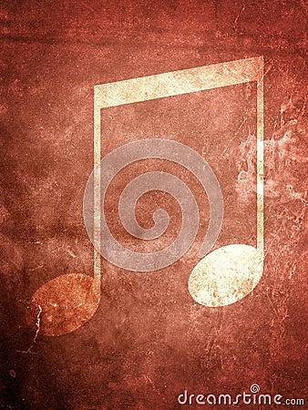 Grunge σημείωση μουσικής