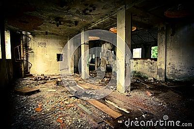 Grunge abandoned building
