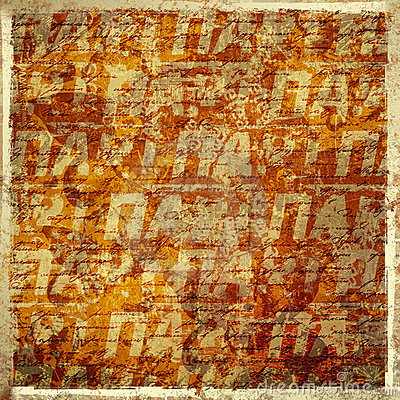 Grunge abstract background with handwrite text