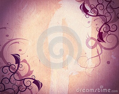 Grunge abstract floral background