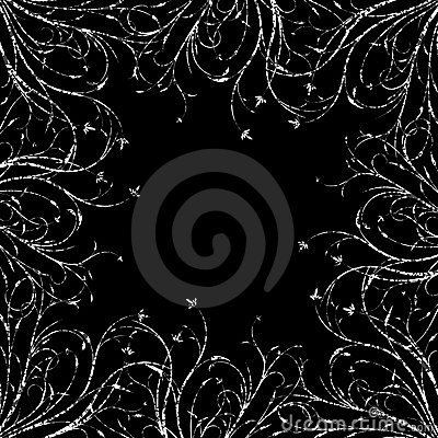 Grunge abstract floral decorative background vector illustration