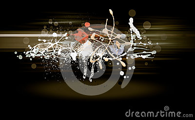 Grunge abstract textured mixed media collage Stock Photo