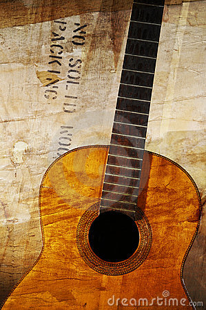 Free Grunge Acoustic Guitar Royalty Free Stock Photos - 5708578