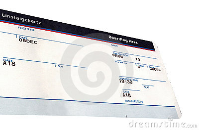 Grunge air ticket isolated, paper texture
