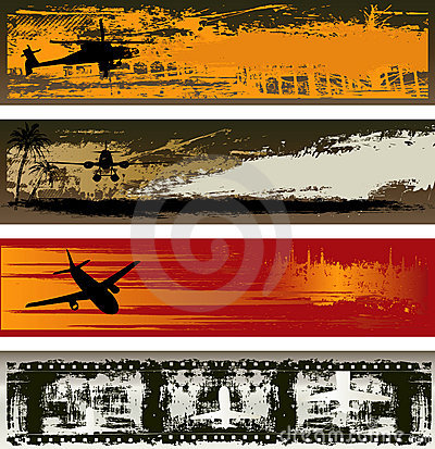 Grunge Air Transport Web Banner Templates