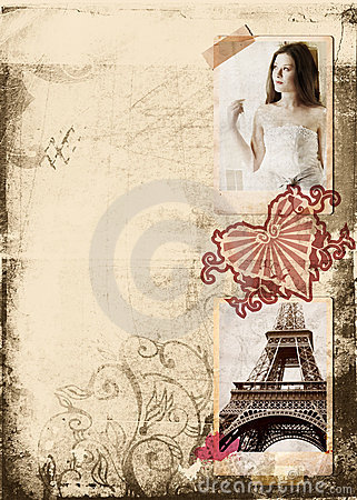 Free Grunge Album Bride Page Royalty Free Stock Image - 2582276