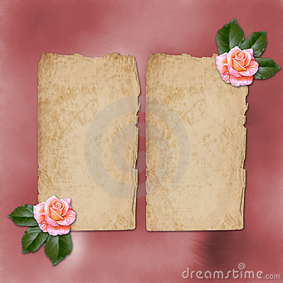 Grunge alienated paper for congratulation