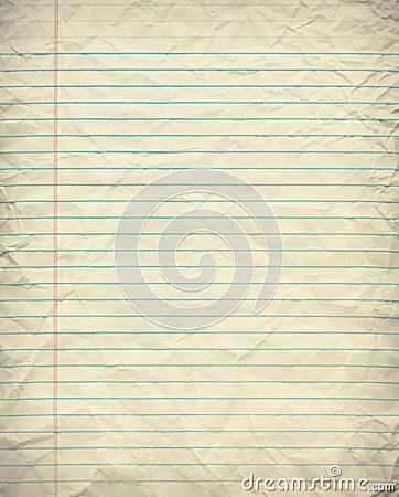 Grunge alinhou o papel