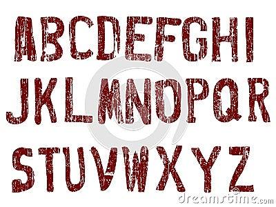 Grunge Alphabet A-Z