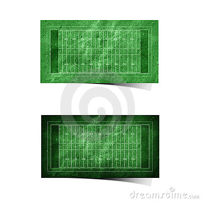 Grunge  American football  field recycled paper