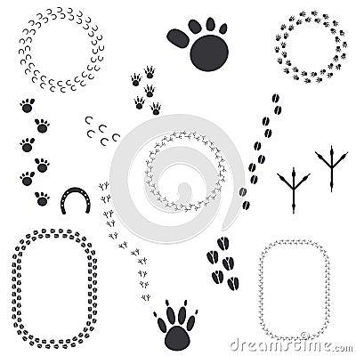 Grunge Animal Tracks