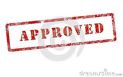 Grunge aprobado de la marca del sello