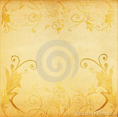 Grunge artistic floral