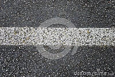 Grunge Asphalt Road Stripe Detail