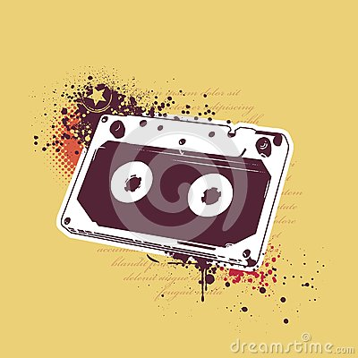 Grunge audio tape