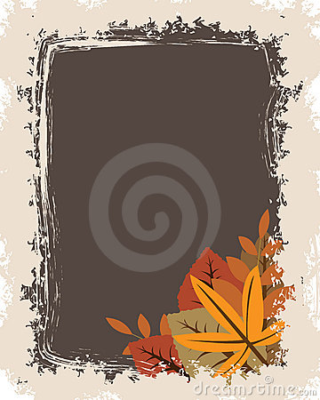 Free Grunge Autumn Frame Royalty Free Stock Images - 15973209