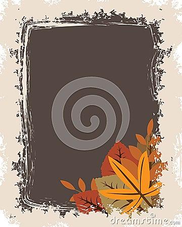 Grunge autumn frame