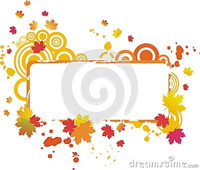 Grunge autumnal frame