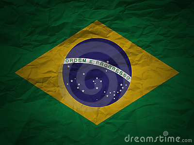 Grunge background Brazil flag