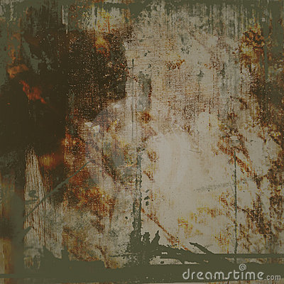 Grunge Background with Brown Stain