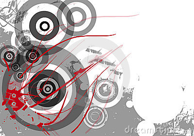 Grunge background with circles