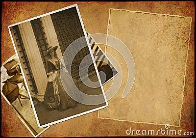Grunge background - collage in retro style