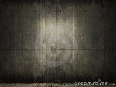Grunge background of concrete room