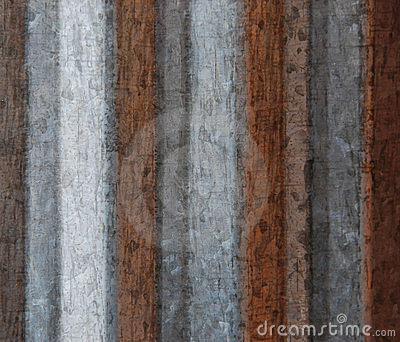 Grunge Background from Corrugated Metal