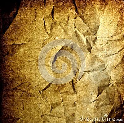Grunge background - crumpled vintage old paper