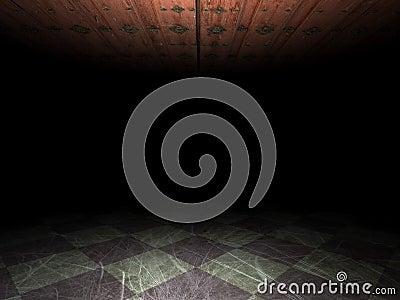Grunge background of empty room