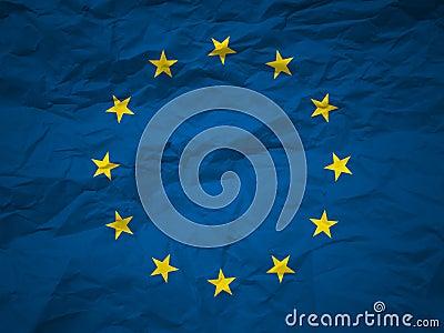 Grunge background European union flag