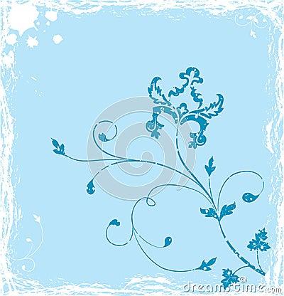 Grunge background flower, elements for design, vector